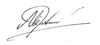 Mark Fishwick Signature