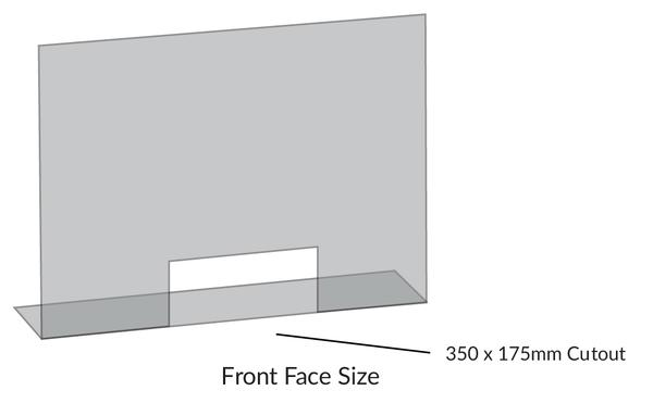 iSB Group Product: Protective Screen, Standard Counter with cut-out