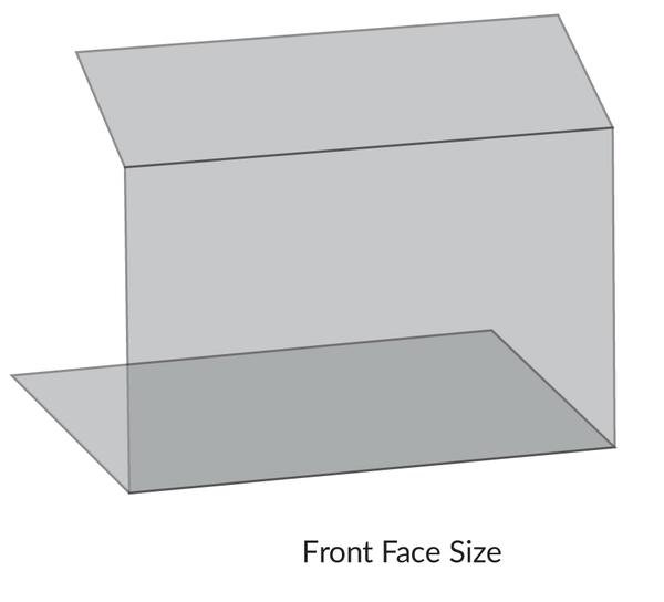 iSB Group Product: Protective Screen, Slope Top Counter